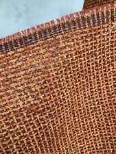 Copper Orange Chenille Upholstery Fabric (54 in.) Sold By The Yard