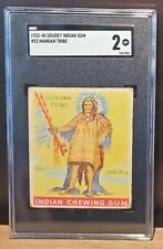 MANDAN TRIBE - 1933-40 Goudey Indian Chewing Gum #23 - SGC 2 Good (Centered)