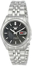 Seiko 5 Automatic SNK361 SNK361K1 Men Black Dial Day Date Stainless Steel Watch