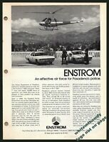 1977 PASADENA CA. California POLICE DEPARTMENT Enstrom F-28A Helicopter AD