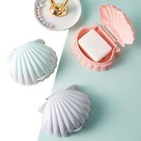 Portable Shell Shape Soap Box Creative Bathroom Drain Soap Holder Travel Case