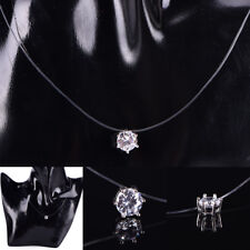 Fashion Women Crystal Necklace Invisible Line Zircon Clavicle Chain Necklac siNM