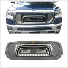 For 2019-20 Dodge Ram 1500 Grille ABS Honeycomb Bumper Grill Mesh Rebel Gray