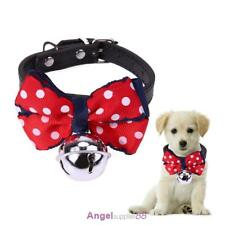 Adjustable Pet Cat Bow Tie Collar velvet safety Kitten Colar Necklace with Bell