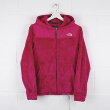 Vintage THE NORTH FACE Pink Hooded Fleece Jacket Size Womens Small /R61008