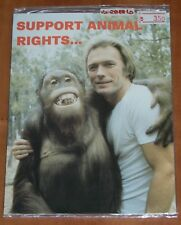 EVERY WHICH WAY BUT LOOSE 'SUPPORT ANIMAL RIGHTS' POST CARD 1978 HEROES CREATIVE
