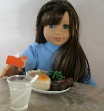 American Girl Doll  Miniature Handmade Meatloaf and Green Bean Dinner and Pie