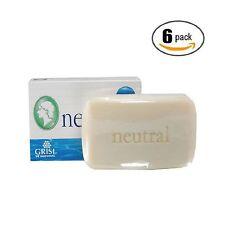 6pk - Neutral Soap - Hypoallergenic - Jabon Neutro - Grisi Free Shipping