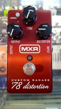 MXR M78 Custom Badass '78 Distortion Effect Pedal w/ Powersupply and Patch Cable