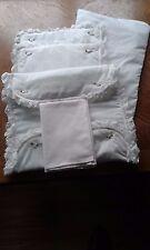 Bedding Set for Silver Cross Dolls Twin Pram White Quilt, Mattress, 2 pillow etc