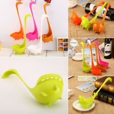 Swan Long Handled Spoon Soup Tableware Dinnerware Cooking Kitchen Gadgets Tools