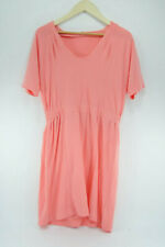 J Crew Dress Short Sleeve Coral Pink Knit Cotton Size Medium