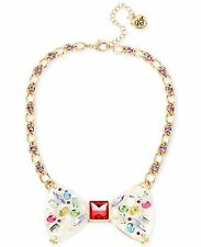 AUTHENTIC BETSEY JOHNSON Sweet Shop Bow Necklce RETAIL $85 NWT