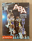 VINTAGE 1974-75 OFFICIAL ABA AMERICAN BASKETBALL ASSOCIATION SPORTING NEWS GUIDE