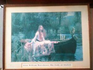 Lady Of Shalott John William Waterhouse 33x24 framed..