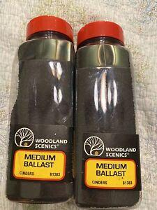 Lot Of 2 NEW Woodland Ballast Medium Cinder 32oz B1383