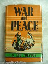 1943 Ed. War & Peace Leo Tolstoy hcdj B18