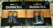 4 Duracell Ultra 3V CR17345 DL123 EL123 Lithium Batteries Low Price! Free Ship!