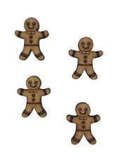 20x Christmas Gingerbread Man 2cm Wood Craft Embelishments Laser Cut Shape MDF