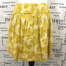 Forever 21 L Skirt Marigold White Tropical Floral Luau Print Elastic Waist