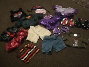 Bundle of Build A Bear Variety Of Clothes/Shoes (X 14 Items)