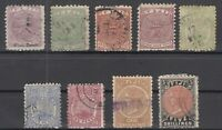 D3039/ BRITISH FIJI – 1881 / 1896 – USED CLASSIC LOT – CV 230 $