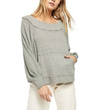 Free People Westend Thermal Top Army Green Sz.S NWT $78