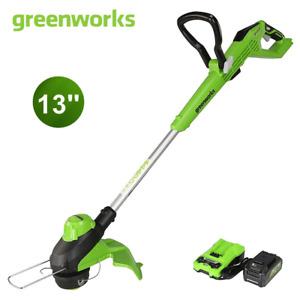 "Greenworks 24V MAX 13"" Cordless String Trimmer & Edger with 4.0Ah Li-ion Battery"