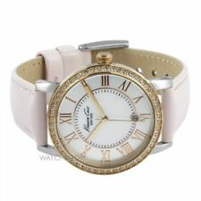 New Ladies KENNETH COLE NY Gold & Pink MOP Dial Leather Watch KC2845 RRP£115
