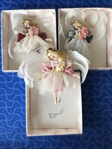 New Lot Of Porcelain Doll Show Stoppers Ornaments Angel Fairy Feathers Ballerina