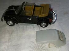 Polistil Volks Wagen 1303 Black Cabriolet no. S15 Made in Italy 1/25 Scale vwbc