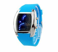 Quality Binary Wrist Watch Digital Car Dash Board Theme LED Sport UK Sky Blue