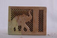 Soapstone Decorative Desk Pen Holder and Visiting Card Hand Carved Art