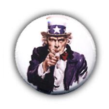 Badge I WANT YOU Oncle Uncle Sam Usa vintage rockabilly rock punk buttons Ø25mm