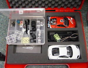 QQ 50455 Ninco Ferrari 360 GTC N Gauge Building Kit Prorace IN Briefcase