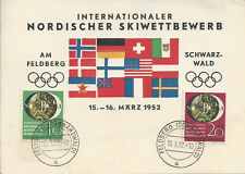 GERMANY 1951 PHILATELIC EXHIBITION SET ON OLYMPICS CARD MARCH '52