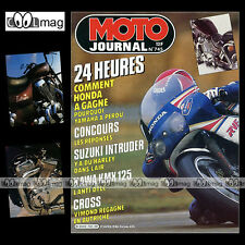 MOTO JOURNAL N°745  PATRICK IGOA, SUZUKI VS 750 INTRUDER, KAWASAKI 125 KMX 1986