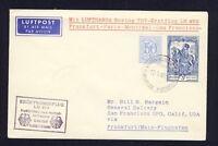 50889) LH FF Frankfurt - San Francisco 13.5.60, Brief ab Belgien