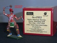 BRITAINS 47053 REDCOATS NATIVE AMERICAN HURON WARRIOR METAL TOY SOLDIER FIGURE