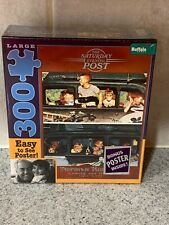 The Saturday Evening Post Norman Rockwell Coming & Going 300 Piece Puzzle NEW R