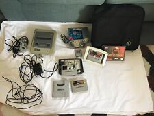 SNES Super Nintendo Console with Games & Bag
