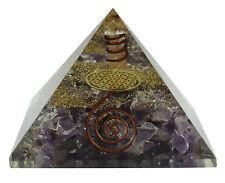 Améthyste fleur de vie, pyramide symbole Reiki pierres précieuses énergie Orgone