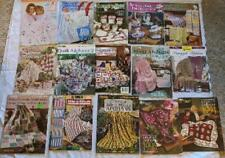 Lot of 15 Vintage Crochet Leaflets Pamphlets Afghans