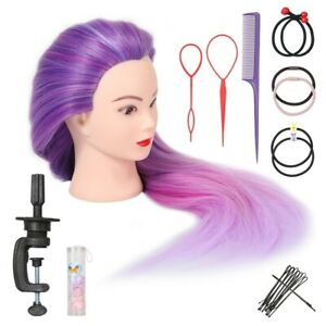 """26""""-28"""" Training Head Hairdressing Practice Mannequin Doll with Clamp Tool"""