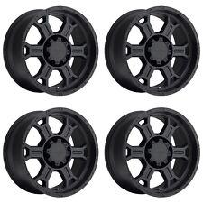 "Set 4 16"" Vision 372 Raptor Black Wheels 16x8 5x5.5 0mm Dodge Ford 5 Lug Rims"