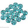 L/P 20 Glas Cabochons Glascabochons Perlen zum Kleben Lebensbaum Blau 18cm