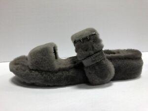 UGG Womens Fuzz Yeah Slippers Gray Size 12 M