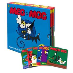 Meg and Mog Collection 10 Books Box Set By Helen Nicoll and Jan Pienkowski NEW