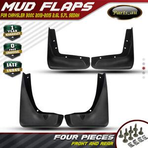 Set of 4 Mud Flaps Splash Guards Mudflaps for Chrysler 300 300C 2013-2016