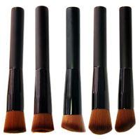 Pro 5pcs Kabuki Blusher Powder Foundation Contour Face Make Up Brushes Set Tool